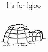 Igloo Coloring Drawing Lesson sketch template
