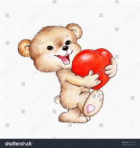 Bear With Heart Drawing Pictures to Pin on Pinterest ...