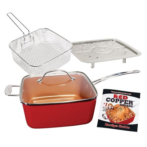 red copper  pc cookware set    tv cookware set copper cookware set red copper cookware