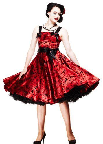 size bloody marry red rockabilly gothic velvet tattoo
