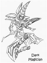 Dark Magician Pages Coloring Getcolorings sketch template