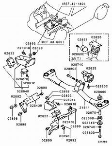 Engine Mounting  U0026 Support For 1995   1996 Mitsubishi