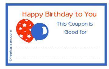printable birthday coupons  balloons