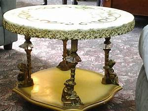 I have an antique coffee table with end tables and for Antique marble coffee table and end tables