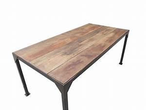 Table Salle A Manger Blanche Et Bois : table bois et metal salle manger table ronde extensible 10 ~ Teatrodelosmanantiales.com Idées de Décoration