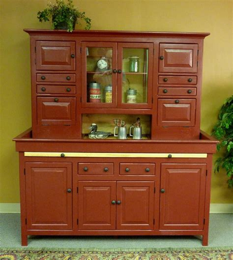Hoosier Cabinet Reproduction Set by Jumbo Pine Hoosier Cabinet Usa Made Antique Reproduction