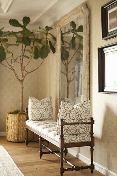 Entryway Settee by Settee And Mirror Entry Foyers And Halls