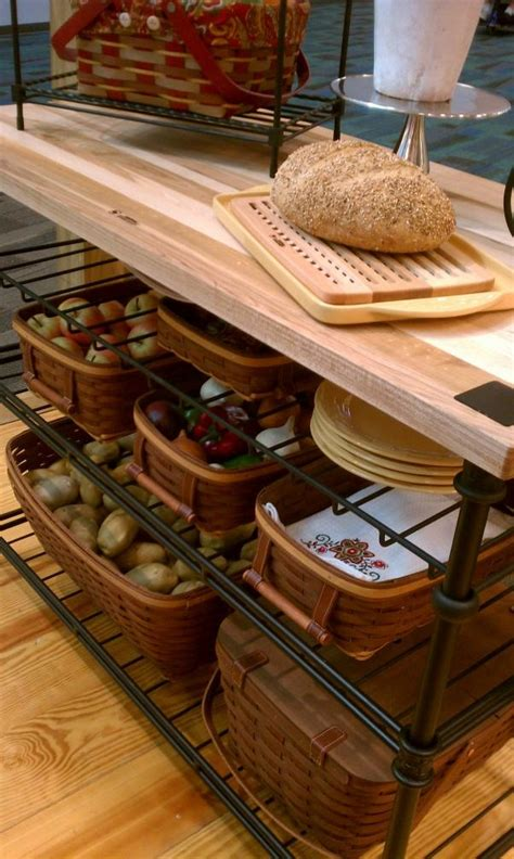kitchen island with baskets 193 best organizing with longaberger images on 5199