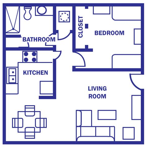 floor plan 500 sq ft standard floor plan one
