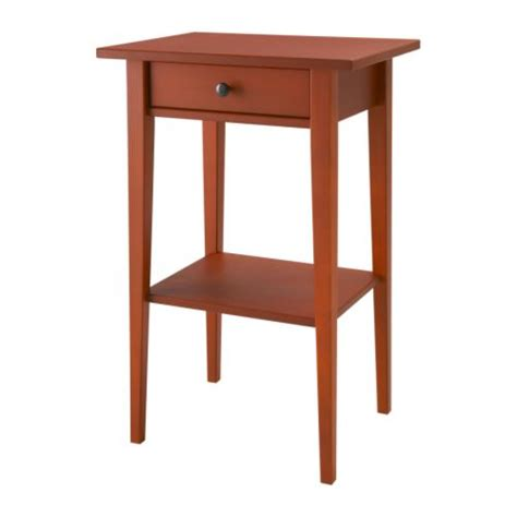 hemnes table de chevet rouge ikea