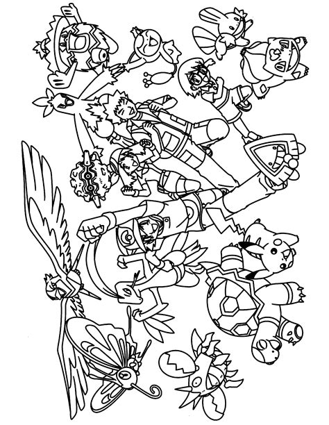 Coloring Page Pokemon Advanced Coloring Pages 181