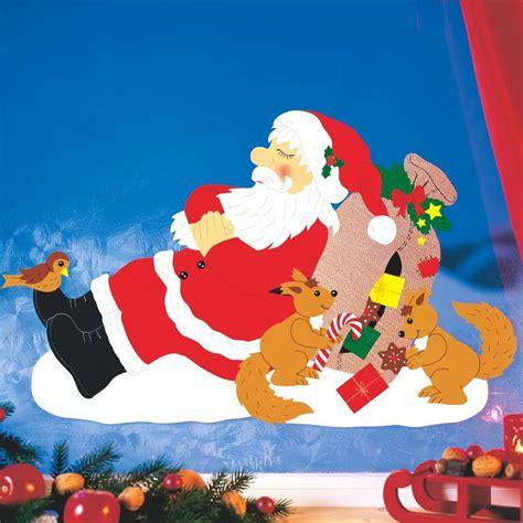basteln weihnachten tonpapier fensterbild verschlafene weihnachten fischer fensterbilder