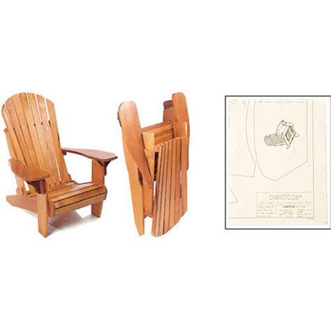 folding adirondack chair woodworking plans veritas folding adirondack plus chair plan ap476773 ebay