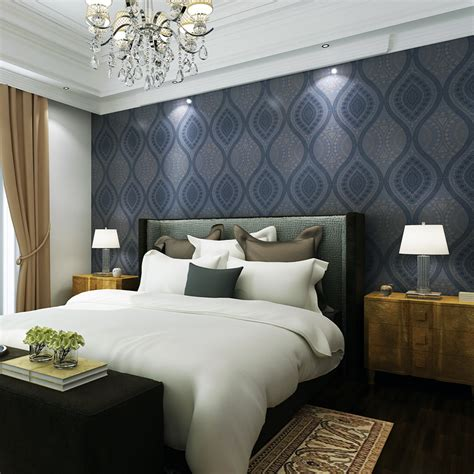 Blue Bedroom Wallpaper by Navy Blue Wallpaper For Walls Gallery