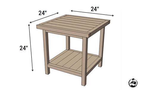 simple square side table  diy plans rogue engineer