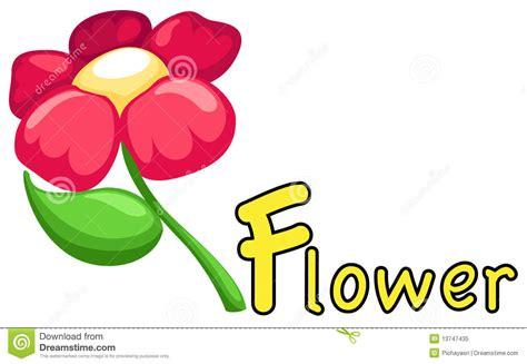 Alphabet F For Flower Royalty Free Stock Photo
