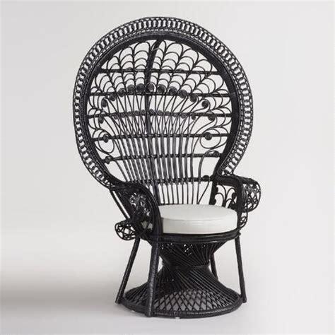 black wicker peacock chair world market