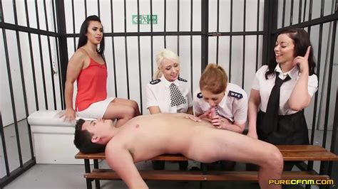 Cfnm Naughty Female Prison Guards Take Advantage Of A Lucky Inmate Porndoe
