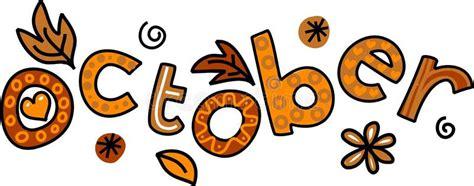 October Clip Art stock illustration. Illustration of ...