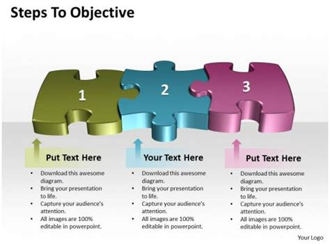 business powerpoint templates steps  objective editable