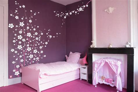 large wall tree nursery decal japanese magnolia cherry