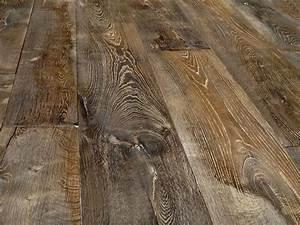 plancher vieilli en chene massif replique de plancher ancien With parquet vielli