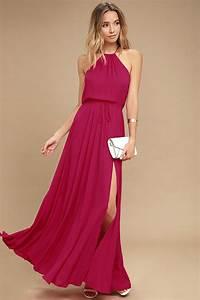 Lovely Berry Pink Dress - Maxi Dress - Sleeveless Dress ...