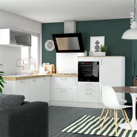 cuisine oskab meuble de cuisine bas suspendu stecia blanc 1 porte l60 x