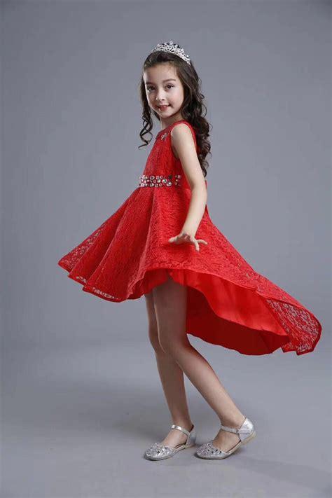 fashion kids party wear girl dress red pakistan