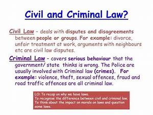 What are the differences between criminal law and civil law?