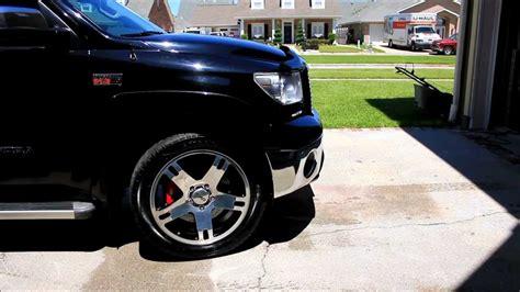 tundra platinum  trd  forged wheels youtube
