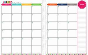 7 best images of printable month on two pages printable for Two page monthly calendar template