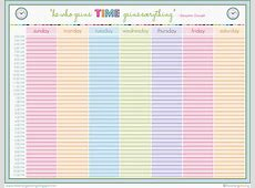 4+ weekly schedule printable Ganttchart Template