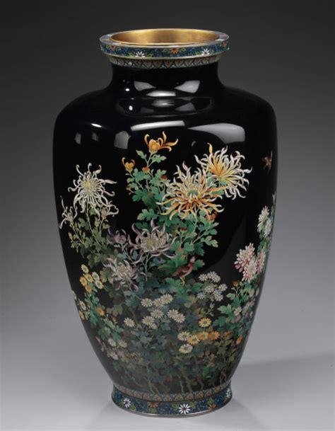 japanese cloisonne vase large japanese cloisonne vase by shobido richard gardner