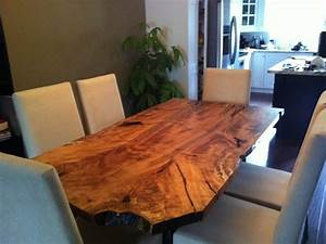 Maple Live Edge Dining Table - Eclectic - Dining Room