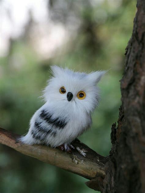 aliexpress buy small simulation owl polyethylene fur mini left white owl doll