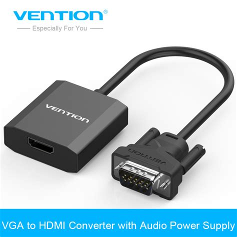 aliexpress buy vention vga to hdmi converter cable adapter with audio 1080p vga hdmi