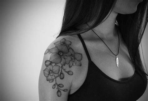 orchid tattoo black  white creativefan