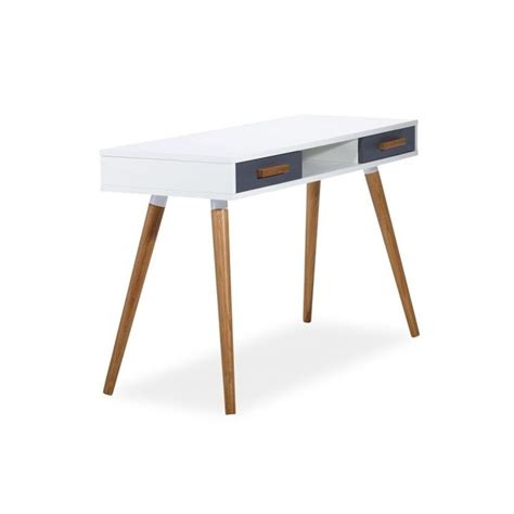 paravent de bureau bureau milan style scandinave en mdf blanc et bois
