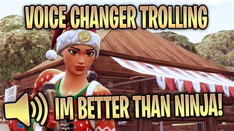 voice changer trolling gamer girl fortnite battle royale