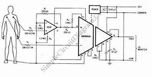 Heart Monitor Circuit Schematic Diagram