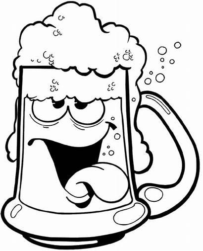 Beer Mug Cartoon Clipart Drunk Vector Clip