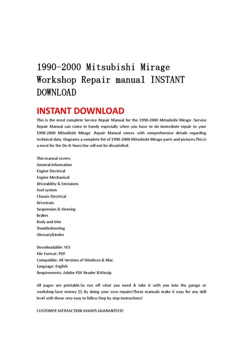 free service manuals online 1990 mitsubishi mirage head up display 1990 2000 mitsubishi mirage workshop repair manual instant download by hgsyegfhnn issuu