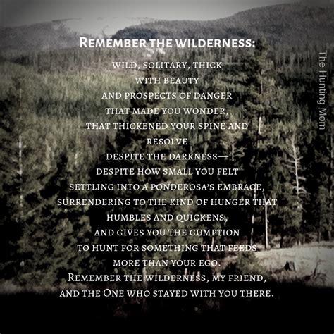 wilderness remember