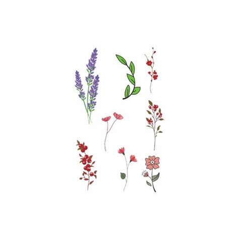 waterproof temporary fake tattoo stickers cute red pink