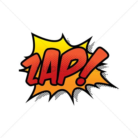 Zap Comic Wording Vector Image Stockunlimited
