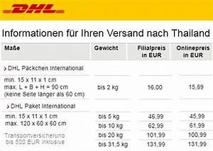 Porto Nach Schweiz : thailand dhl paket luftpost preise speditionen postal ~ Watch28wear.com Haus und Dekorationen