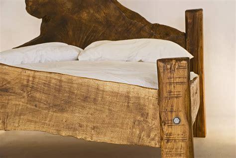 Rustic Handmade King Size Wooden Bed  Kwetu