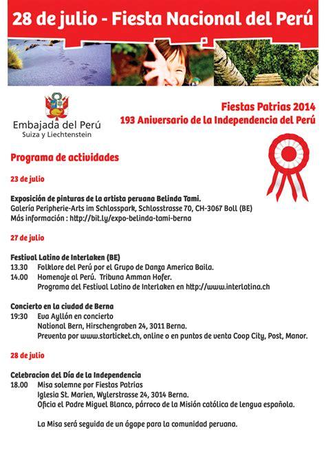 programa de actividades por el 193 aniversario de la independencia per 250 luis chuquihuara