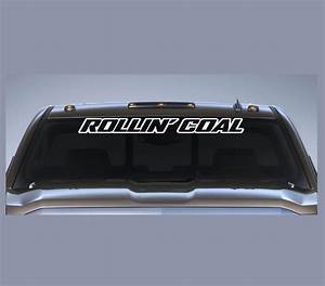 rollin coal diesel vinly window decal stickers custom With windshield lettering
